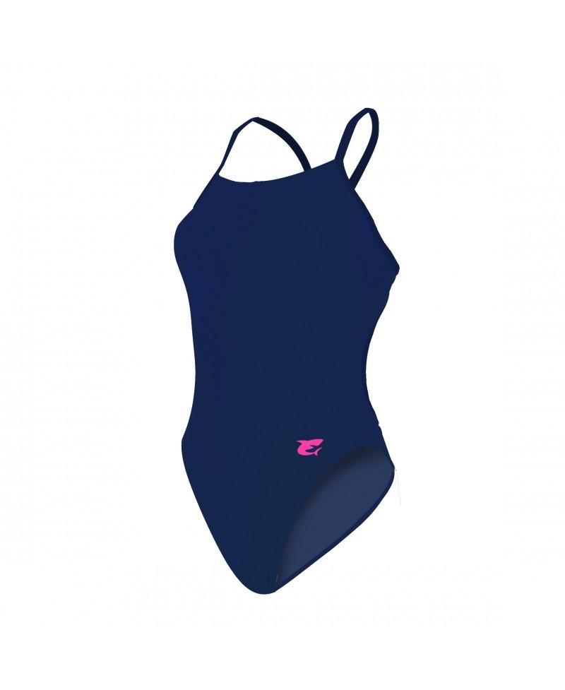 maillot de bain entrainement natation yelia bleu marine. Black Bedroom Furniture Sets. Home Design Ideas